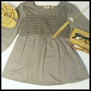 Gray Green Peasant Top by Art and Soul